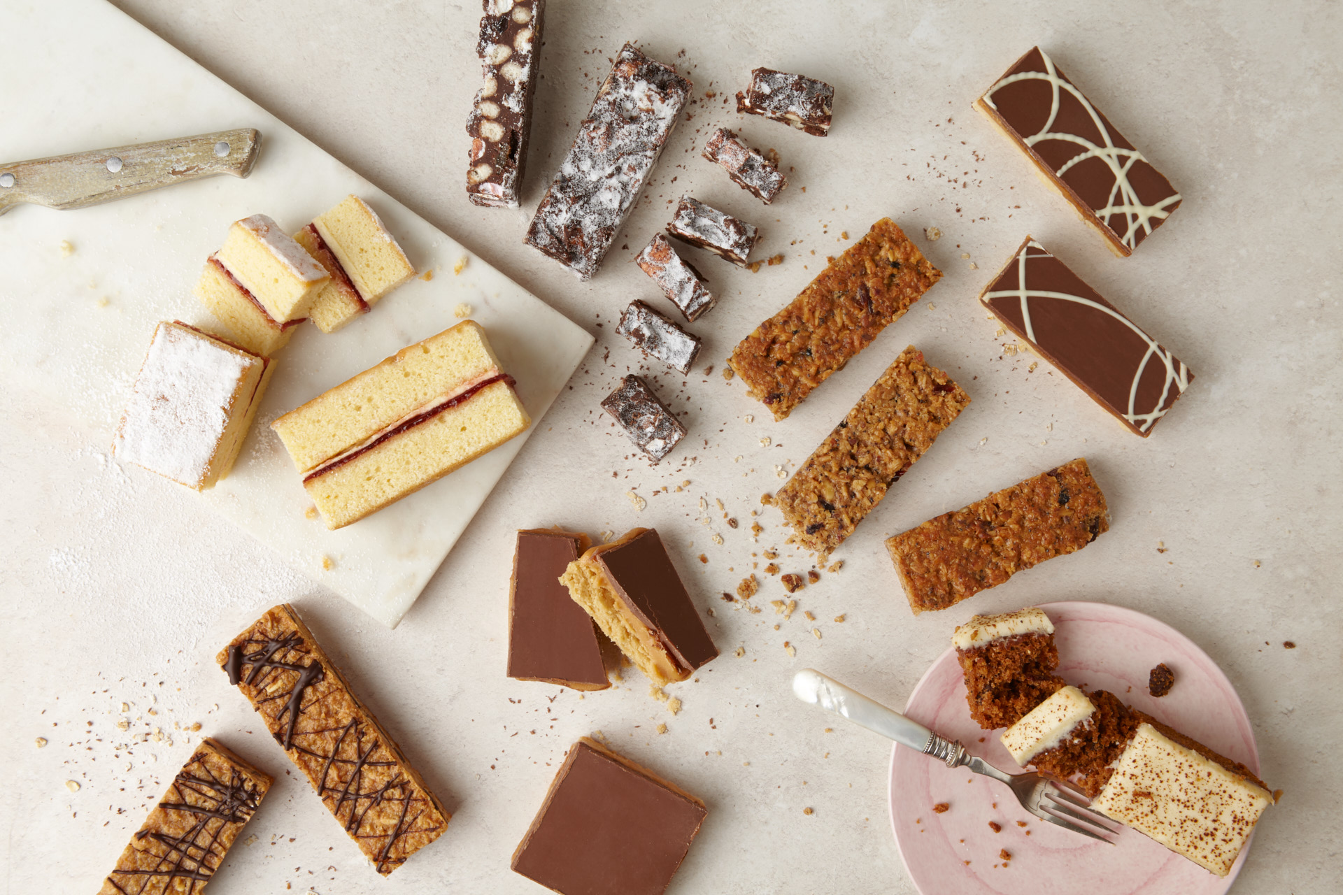 A wide range of snack bars, healthy and indulgent park cakes bakery